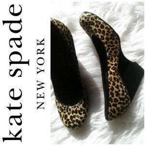 Kate Spade Calf Hair Animal Print Wedges